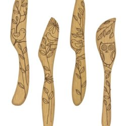 Talisman Designs Get Real Nature Beechwood Spreaders, Set Of 4, Nature Design