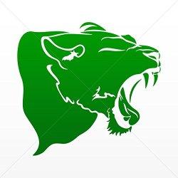 Decal Stickers Panther Head Car Door Hobbies Waterproof Racing Durable Green Dark (14 X 13.0 In)