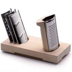 Legnoart Domino Passionate'S Grater Set, 4 Blades, Designed By Bjorn Blisse