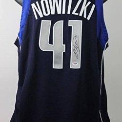 Psa/Dna Mavericks Dirk Nowitzki Authentic Signed Blue Jersey Autographed - Certified Authentic