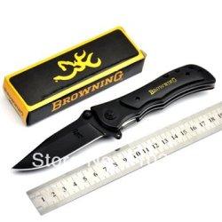 Knife Browning 339 Big Black Folding Knife Black Wood Handle Outdoor Knife Whole Sales