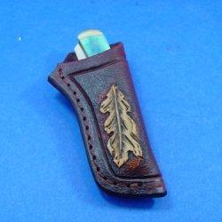 Custom Made Trapper Knife Sheath Or Knife Case. Knife Not For Sale.