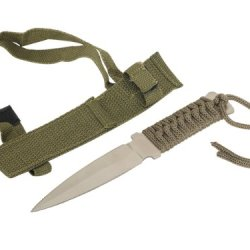 """Wild Animals Ramboo Hunting Knife Series - 6"""" Mini Hunting Knife Silver Blade, Comes With Portable Nylon Case"""