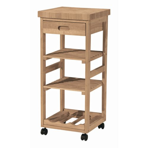 Image of Whitewood Natural Kitchen Cart Trolley (WC-1515)