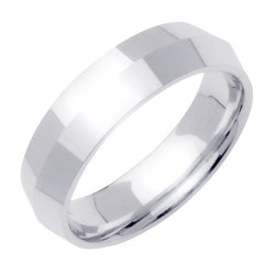 Medium-Weight Knife Edge Wedding Band In Platinum (5Mm)