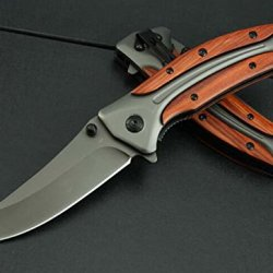 Rescue Manually Glass Breaker Folding Survival Pocket Knife Blnda58-8.66''