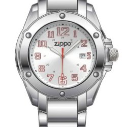 Zippo Dress Silver Sunray Watch With Stainless Steel Band