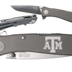 Tx Texas A&M V1 Custom Engraved Sog Twitch Ii Twi-8 Assisted Folding Pocket Knife By Ndz Performance