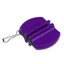 Mokingtop New Mini Ceramic Rod Tungsten Steel Camp Kitchen Fast Sharpener Tool (Purple)