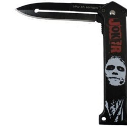 """The Joker"" Ao ""Why So Serious ?"" Folding Knife Black"