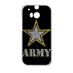 Jdsitem Creative Letter Army Star Design Case Cover Sleeve Protector For Phone Htc One M8 (Laser Technology)