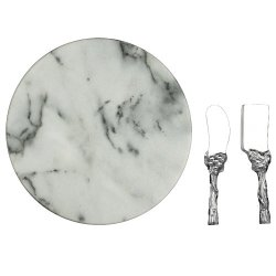 Arthur Court Grape Cheese Set With 12-Inch Marble