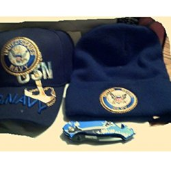 U.S. Navy Triple Play - Ball Cap, Watch Cap And Rescue Folding Knife