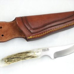 Silver Stag Slab Series Back-Woods Pro Hunting Knife