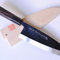 Yoshihiro Honyaki Mirror Finished Deba Fillet Japanese Chefs Knife 7 Inch (180Mm) Ebony Handle