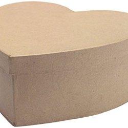 """Dcc Crafts Paper Mache 7-1/2"""" Heart Box"""