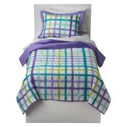 Circo® Plaid Quilt Set - Purple - Full/Queen