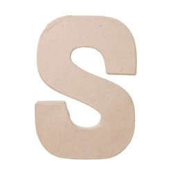 "Ready To Decorate Paper Mache Capital Letter ""S"" For Crafting, Creating And Projects"