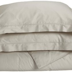 Tuscany Fine Italian Linens Milange 300 Thread Count Egyptian Cotton King Duvet Cover Set, Oyster