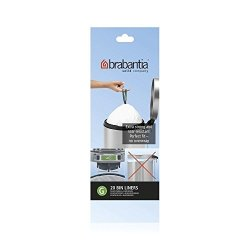 Brabantia Perfect Fit Bags Size G (30 Litre) - 20 Waste Bags Total