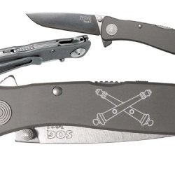 Crossed Cannons Army Field Artillery Custom Engraved Sog Twitch Ii Twi-8 Assisted Folding Pocket Knife By Ndz Performance