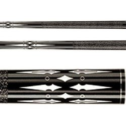 Players Midnight Black Pool Cue With Floating Daggers, Diamond, And Ring Transfers Style: 21 Oz.