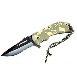 "New 8"" Defender Green Digital Camo S/A Folding Knife"