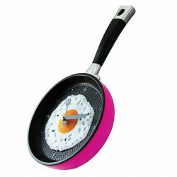P&O Happy Time Innovation Frying Pan Wall Clock Decoration Home Gift New