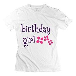 Birthday Girl Best Women T Shirts Medium White