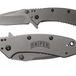 Banner Sniper Engraved Kershaw Cryo 1555Ti Folding Speedsafe Pocket Knife By Ndz Performance