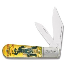 Novelty Cutlery 247 Heroes Of The Silver Screen Series - Lash Larue Barlow Pocket Knife With Color Artwork Acrylic Sealed Handles