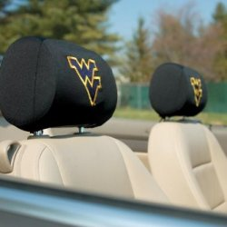 West Virginia Mountaineers Headrest Covers Set Of 2 West Virginia Mountaineers Headrest Covers Set