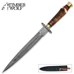 Timber Wolf Stag Hunting Dagger