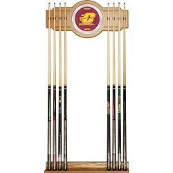 Central Michigan University Wood And Mirror Wall Cue Rack Central Michigan University Wood And Mirr