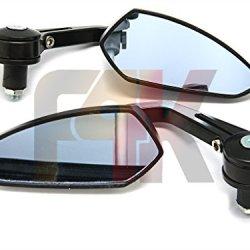 """Pair Of Custom Universal Black Blade Spear Knife Style 7/8"""" Handlebars Bar End Mirrors For Ducati Monster 620 695 696 795 796 1100 Evo Diesel Diavel Hypermotard Multistrada 1200"""