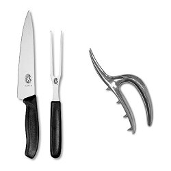 Victorinox Swiss Classic 2-Piece Carving Set With Vintage Roast Holder
