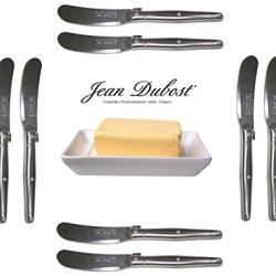 French Laguiole Dubost - 10 Butter Knives - In All Stainless Steel (Genuine Quality Family Dinner Inox Table Flatware/Cutlery Spreaders Setting For 10 People - Each Knife: 6 Inches - Manufactured In France - With Certificate Of Authenticity - Direct From