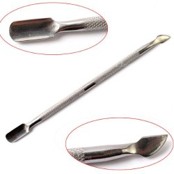 Hot New 2014 Model 2Pcs Nail Art Stainless Steel Cuticle Pusher For Pedicure Remover Spoon Manicure