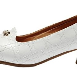 Index Low-Heel Sewing With Genuine Leather Fashion Shoes For Women (7 B(M) Us, White)