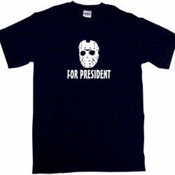 Jason Hockey Mask For President Men'S Tee Shirt Medium-Black
