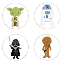 Star Wars Inspired Edible Cupcake Toppers Decoration