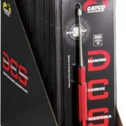 Gatco Sharpeners 40123 Gatco Dcs Diamond Carbide Sharpener Twelve Pack With Red Aluminum Handles