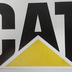 Discounted Cat Sticker Please Look At The Sticker Closely , It Is Discounted Because Their Is Alittle Bit Of Black Ink That Ran Into The Yellow Triangle Of The Sticker , Besides That The Sticker Is Fine .