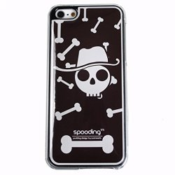[Bones Skull Brown] Ip5 Spooding Cushion Aroma [Scent] Rigid Case Cover [Soft Grip] For Apple Iphone 5/5S