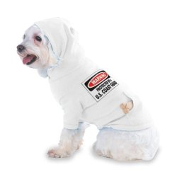 Warning Protected By A U.S. Coast Guard Hooded (Hoody) T-Shirt With Pocket For Your Dog Or Cat Xs White