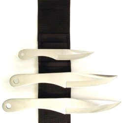Ruko 3-Piece Stainless Steel Throwing Knife Set With Web Nylon Sheath (6 X 8-1/2 X 9-1/2-Inch)