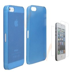 Yellowknife (Tm) Ultra Slim Hard Crystal Case For Apple Iphone 5(Frost Clear Blue)For Apple Iphone 5+1 Front/Back High Clear Transparent Screen Protector (2 Xprotectors Total)