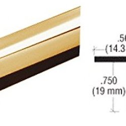 Crl Brass Plastic Reflective Outside Corner - 98 In Long
