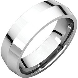 Icecarats Designer Jewelry Platinum Size 10.5 6Mm Knife Edge Comfort Fit Band