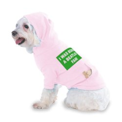 I Was Born A Beatles Fan! Hooded (Hoody) T-Shirt With Pocket For Your Dog Or Cat Size Small Lt Pink